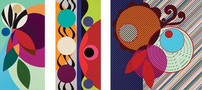 Beatriz Milhazes, 'Red Pepper (Triptych)', 2010
