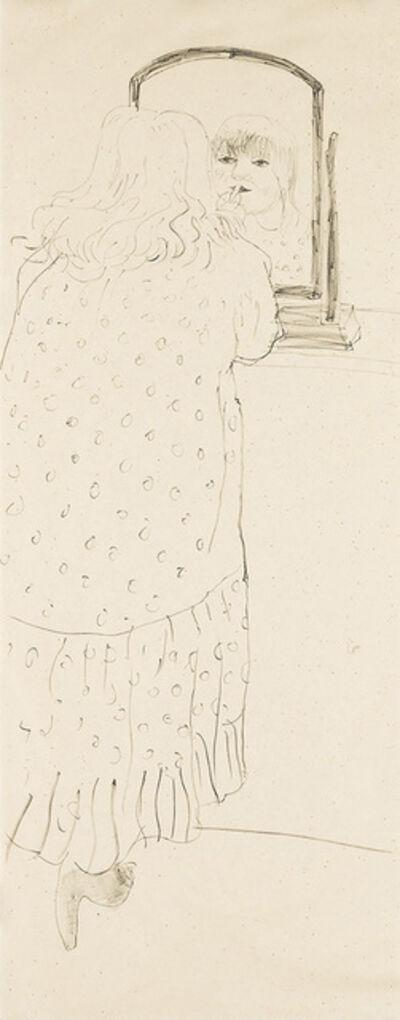 David Hockney, 'Ann Putting on Lipstick', 1979