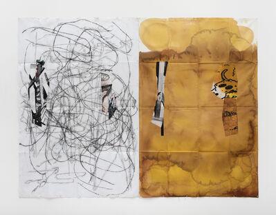 Eugenio Dittborn, 'Yellowblack, Airmail Painting No. 187', 2017