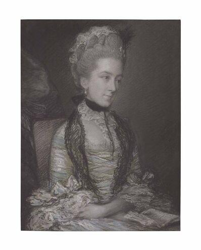 Thomas Gainsborough, 'Portrait of Caroline, 4th Duchess of Marlborough, half-length, in a blue and white dress'