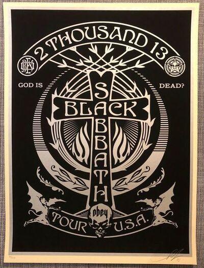 Shepard Fairey, 'Black Sabbath Cross Silver', 2013