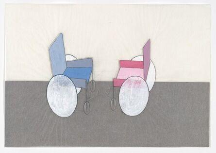 Renate Bertlmann, 'Rollstuhl - Kampf 2 [Wheelchair - Fight 2]', 1975