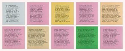 Jenny Holzer, '10 Inflammatory Essays 1979-1982 (Large Set)', 1993