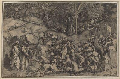 Lorenzo de Musi, 'Moses Striking the Rock'