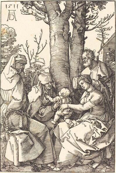 Albrecht Dürer, 'The Holy Family with Joachim and Anne under a Tree', 1511