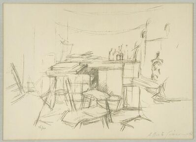 Alberto Giacometti, 'Alberto : The Studio with Bottles', 1957