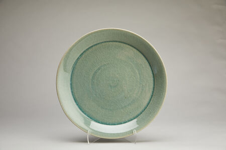 Yoshinori Hagiwara, 'Large dinnerware plate, celadon glaze', 2020