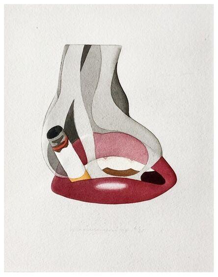 Tom Wesselmann, 'Embossed Smoker', 1979
