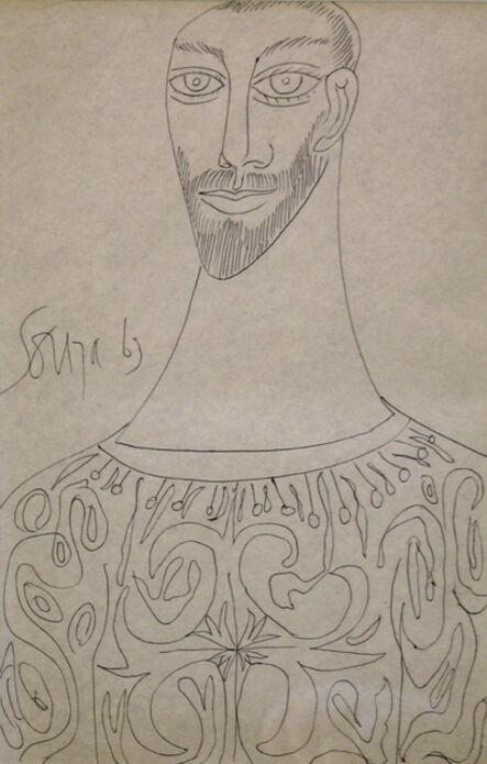 Francis Newton Souza, 'Untitled (Portrait of a Bearded Man)', 1963