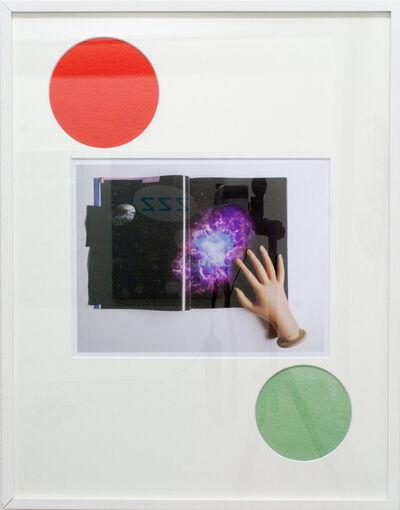 soshiro matsubara, 'Untitled, red circle and green circle', 2013