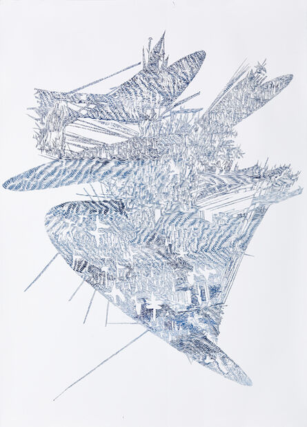 Lyndi Sales, 'Erosion Drawings: Blue Print for an Undesired World 1', 2015