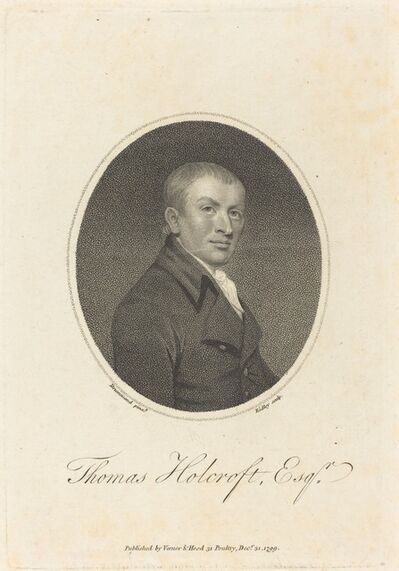 William Ridley after Samuel Drummond, 'Thomas Holcroft', published 1799