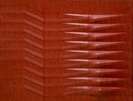 Agostino Bonalumi, 'Rosso', 1987