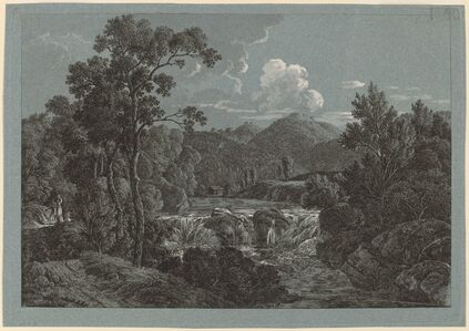 Josef Rebell, 'The Waterfall near Schladming in the Steiermark'