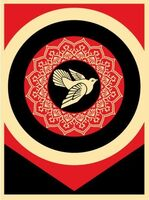 Shepard Fairey, 'Obey Peace Dove black', 2011