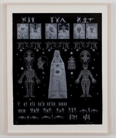 Saya Woolfalk, 'Rosetta Stone of Empathic Movement and Biology', 2011