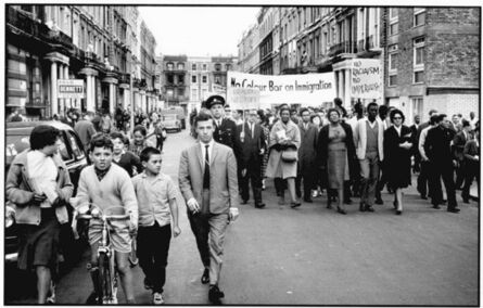 John 'Hoppy' Hopkins, 'Notting Hill Residents March Against Racism, London', ca. 1965