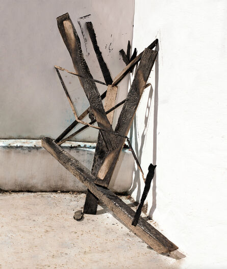 Nico Krijno, 'Sculpture Study with Burnt Wood', 2016