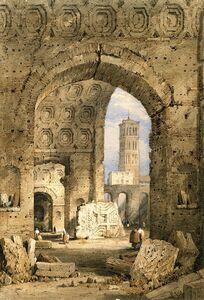 Samuel Prout, 'Temple of Peace, Roman forum', 1825-1850