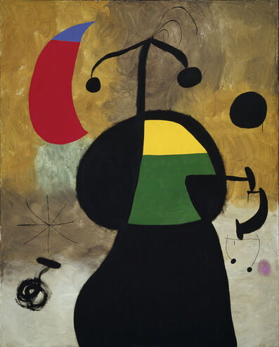 Joan Miró, 'Woman before an Eclipse with Her Hair Disheveled by the Wind', 1967