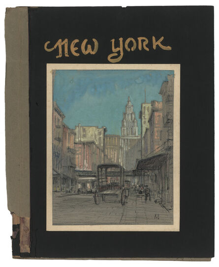Jules Andre Smith, 'Beekman Street Looking West Towards the Woolsworth Building (1913)', 1915