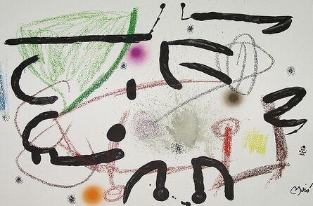 Joan Miró, 'Maravillas con variaciones acrósticas en el jardín de Miró XV', 1975