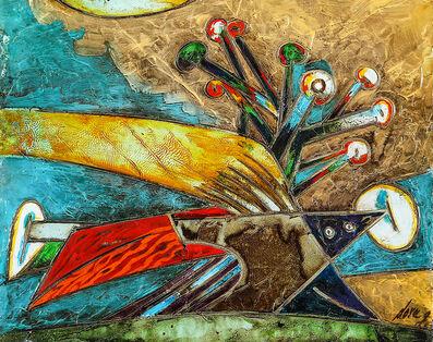 Gianni Dova, 'Tra foglie e fiori', age '60