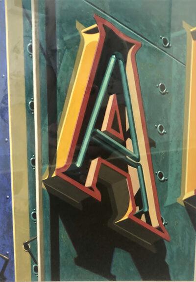 Robert Cottingham, 'A', 1996