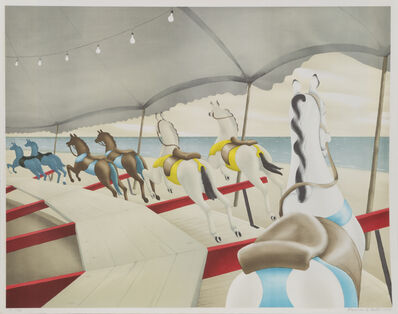 Clarence Holbrook Carter, 'Carousel by the Sea', 1979