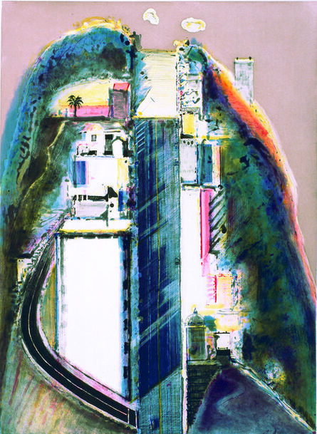 Wayne Thiebaud, 'Steep Street', 1989