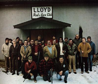 Neal Slavin, 'Group Portrait Lloyd Rod & Gun Club', 1974