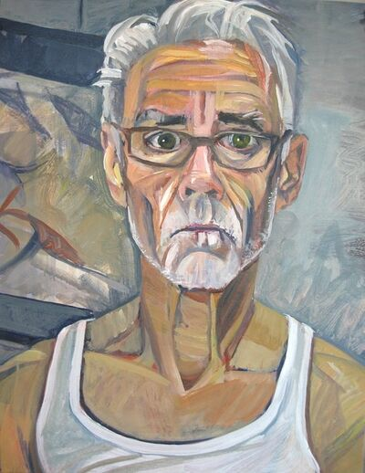 Don Bachardy, 'Portrait Sitting with artist Don Barchardy', 2021