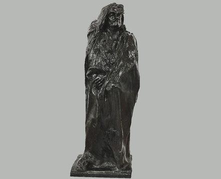 Auguste Rodin, 'Balzac, estudio cubierto con capucha y pechera de encaje | Balzac, Study with Drappery, Hood, and Lace Jabot ', 1897