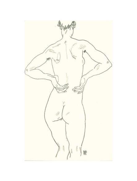 Egon Schiele, 'Weiblicher Rückenakt', 1990