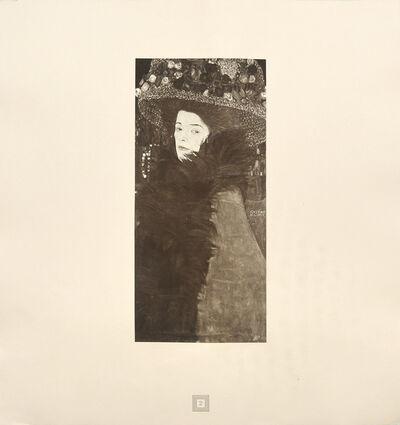 Gustav Klimt, 'Dame mit Blumenhut.', 1931