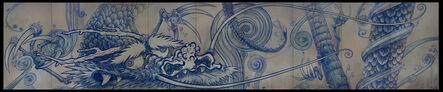 Takashi Murakami, 'Dragon In Clouds—Indigo Blue', 2010