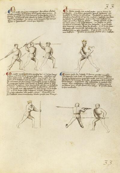 Fiore Furlan dei Liberi da Premariacco, 'Combat with Sword, Staff, and Lance', 1410