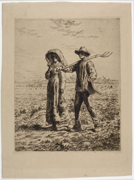 Jean-François Millet, 'Le Départ pour le travail', 1863