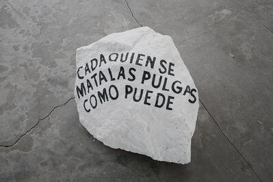 Cristian Franco, 'Cada quien se mata las pulgas como puede', 2017