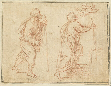 Agostino Masucci, 'A Cherub Pointing the Way for Two Biblical Figures'