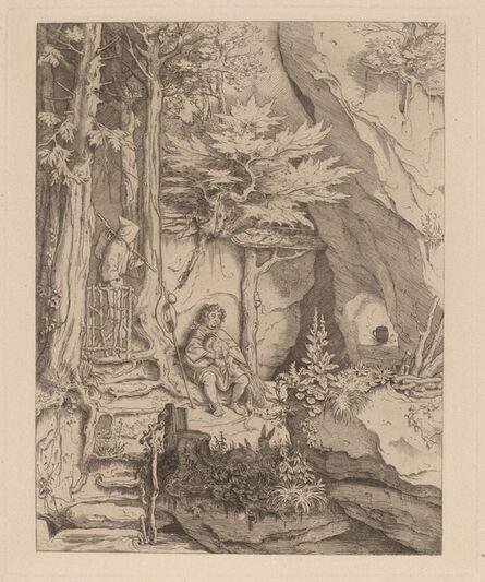 Moritz von Schwind, 'A Monk with a Bagpipe Player', 1846/49