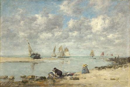 Eugène Boudin, 'Washerwoman near Trouville', ca. 1872/1876