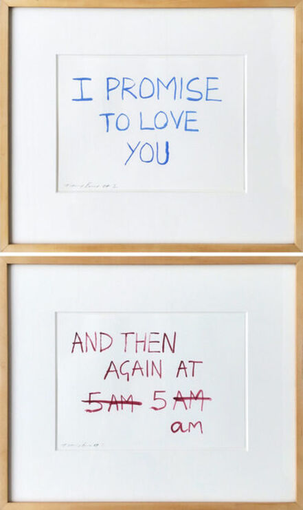 Tracey Emin, 'I Promise To Love You, And Then Again at 5am (Set of two)', 2007