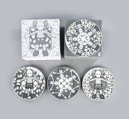 KAWS, 'Ceramic Plates (Grey, Set of 4)', 2019