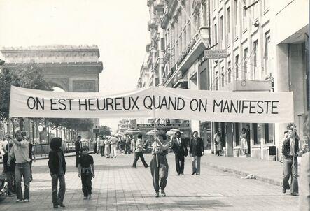 Endre Tót, 'On est heureux quand on manifeste, Paris', 1979