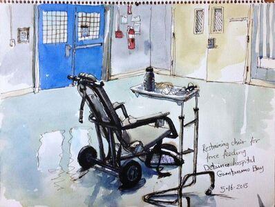 Steve Mumford, '5/16/13, Restraining chair for force feeding, Detainee hospital, Guantanamo Bay, Cuba', 2013