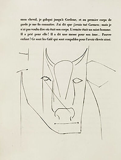 Pablo Picasso, 'Head of a Bull (Plate XXXII)', 1949