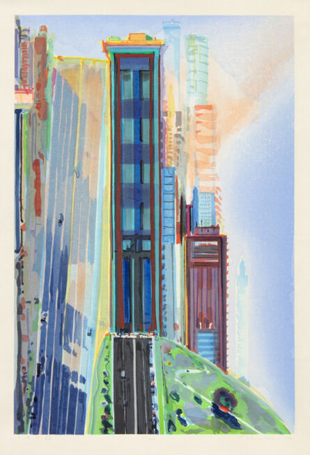 Wayne Thiebaud, 'Hill Street', 1987