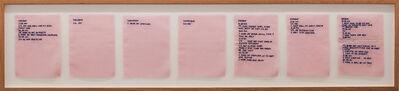 Gudrun Hasle, 'Pink Slip #4 (Logbook Of Nigatif Thorts)', 2017