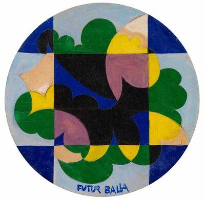 Giacomo Balla, 'Motivo decorativo; Paesaggio scomposto in piani compenetrati ', 1920